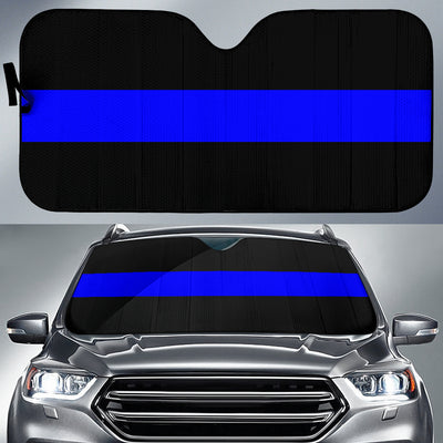 Thin Blue Line Vehicle Car Shade
