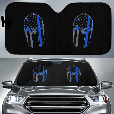 Spartan Thin Blue Line Vehicle Car Shade
