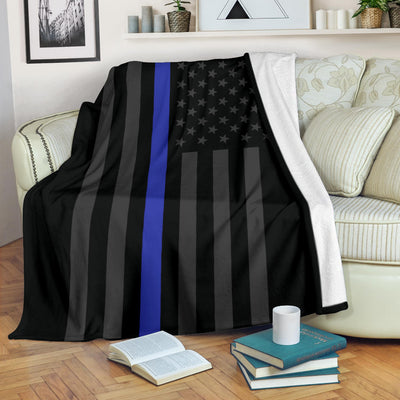 Thin Blue Line Usa Flag Blanket