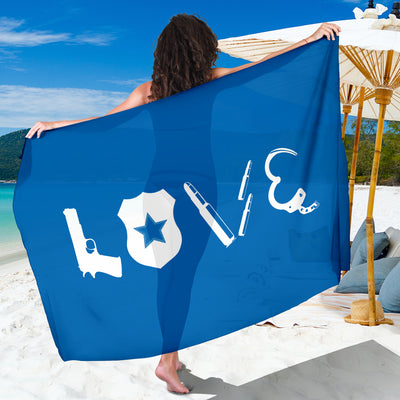 Love - Thin Blue line Sarong