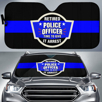 Time To Give It Arrest Vehicle Car Shade