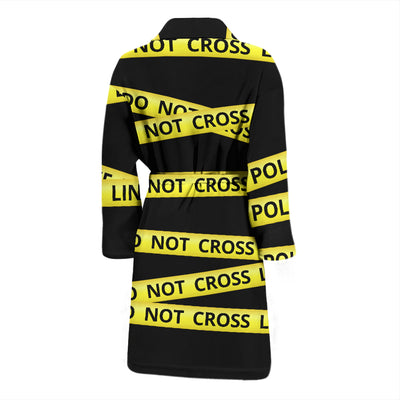 Men's Police Line Do Not Cross Bathrobe