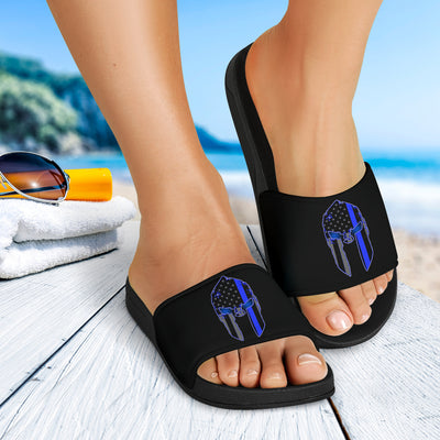 Thin Blue Line Spartan Slide Sandals