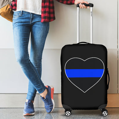 Thin Blue line Heart Suitcase (Luggage) Cover