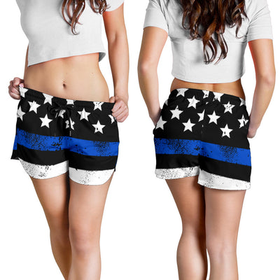 Thin Blue Line Stars and Stripes Women's Shorts