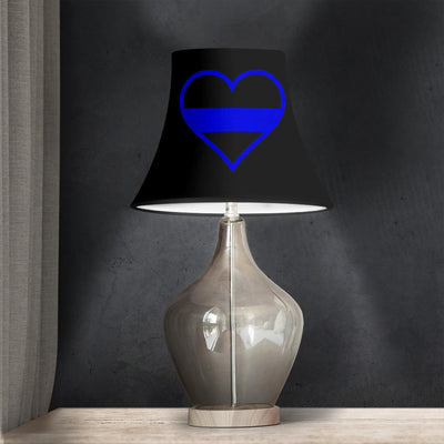 thin blue Line heart Bell Lamp