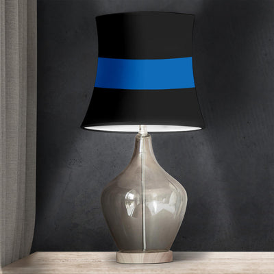 Thin Blue Line Drum Lamp