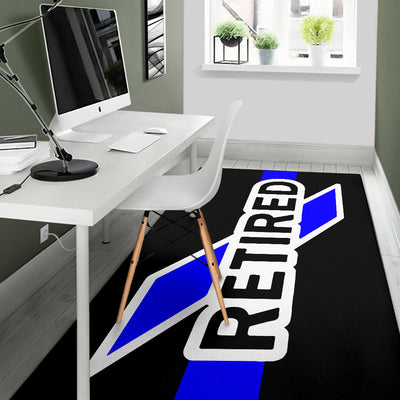 Retired Thin Blue Line Area Rug