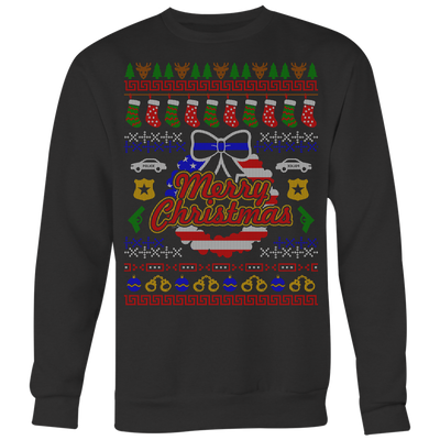 Joyful Police Ugly Christmas Shirts & Sweaters