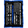 Blessed are the Peace Makers Thin Blue Line Blanket