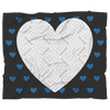 BLUE HEART PERSONALIZED PHOTO FRAME BLANKET