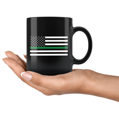 Thin Green Line American Flag Mug