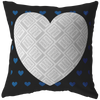Blue Heart Personalized Photo Frame Pillow