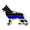 K-9 German Shepherd Thin Blue Line Flag Sticker