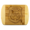 Police Badge Round Edge Chopping Board