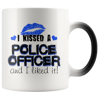 I Kissed A Police Officer - Blue Kisses - Color Changing Mug