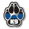 Thin Blue Line K9 Paw Sticker