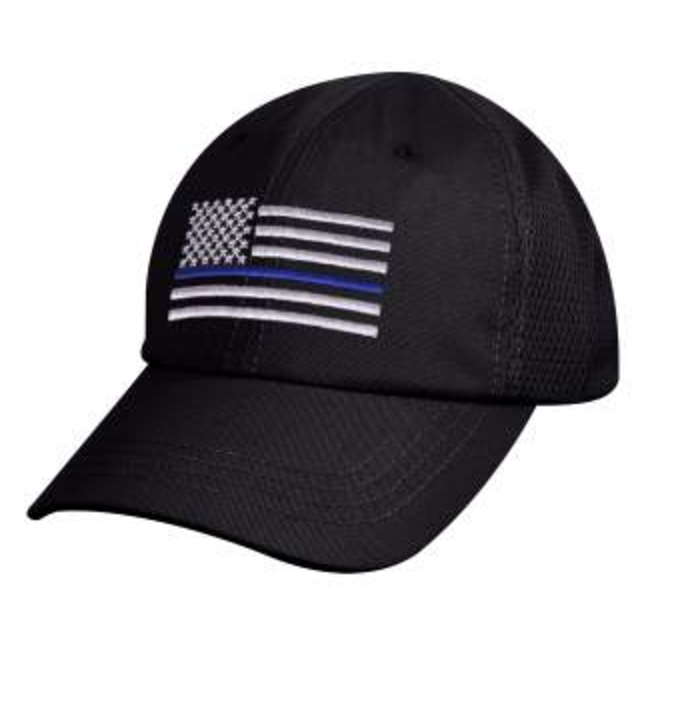 Thin Blue Line Flag Low Profile Cap Mesh Style Thin