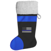 Thin Blue Line American Flag Christmas Stocking