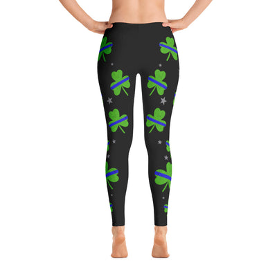 Thin Blue Line Shamrock Leggings