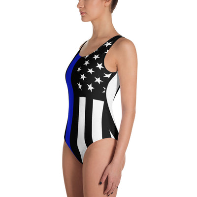 Thin Blue Line Stars & Stripes One-Piece Swimsuit