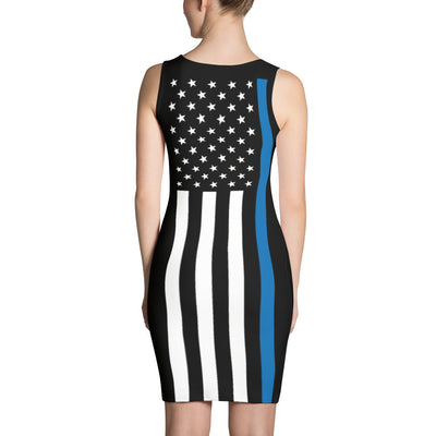 Thin Blue Line Stars and Stripes Dress