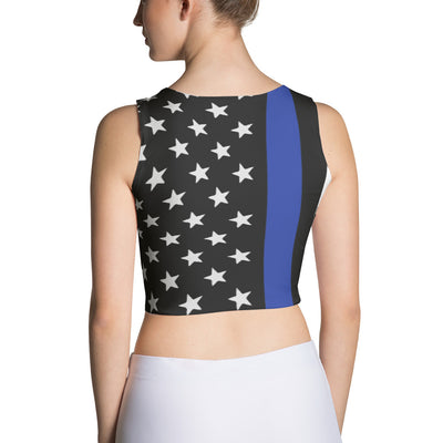 Thin Blue Line and Stars Crop Top