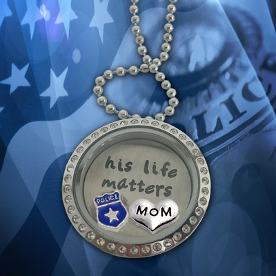 Beautiful His Life Matters Charm Necklace (Options: Wife, Sister, Daughter, Girlfriend, or Mom)
