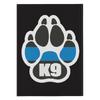 K9 Paw Thin Blue Line Journal Notebook - Hardcover