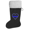 Thin Blue Line Heart - Christmas Stocking