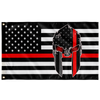 Thin Red Line USA Spartan Flag