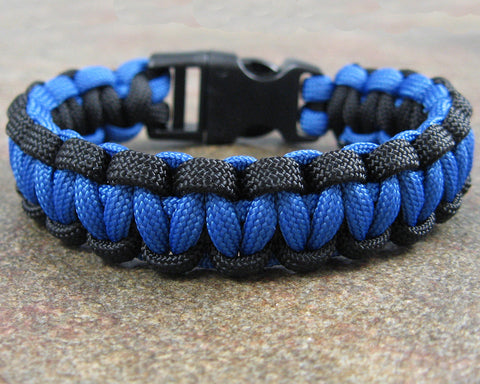 Thin Blue Line Survival Paracord Bracelet