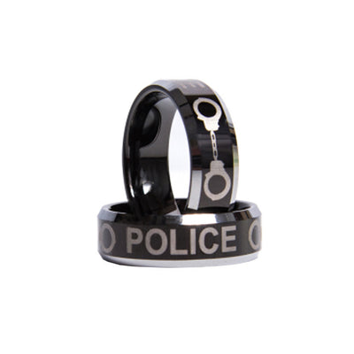 POLICE Printed Solid Tungsten Ring