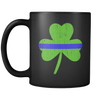 Thin Blue Line Shamrock Mug