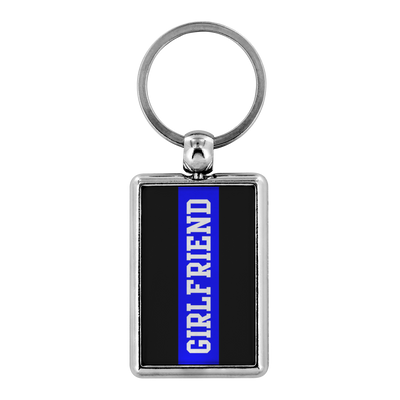 Thin Blue Line Girlfriend Keychain