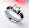 Stunning FIREFIGHTER Thin Red Line Flag Ring