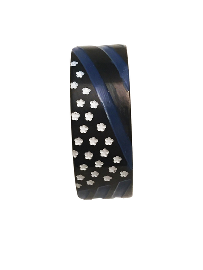 Custom Designed Thin Blue Line American Flag Ring