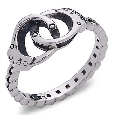 .925 Sterling Silver Gorgeous Handcuff Ring