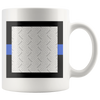Thin Blue Line Personalized Photo Frame Mug