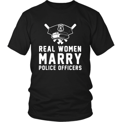 Real Women Marry Police Officers Shirt