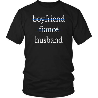 Husband and Wife Thin Blue Line Shirt