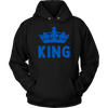 King & Queen Crown Combo Blue Line Hoodie