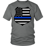 Thin Blue Line American Flag Shield Shirt