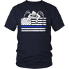 Weeping Angel Thin Blue Line Flag Shirt