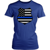 Thin Blue Line American Flag Shield Shirts and Hoodies
