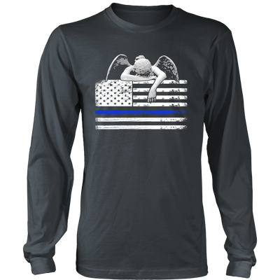 Weeping Angel Thin Blue Line Flag Shirts and Hoodies