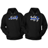 HUBBY AND WIFEY THIN BLUE LINE POLICE COMBO COUPLES HOODIE