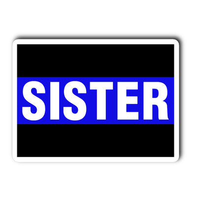 Thin Blue Line Sister Decal Sticker