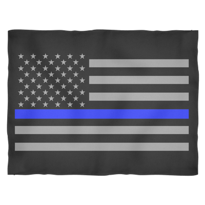 Thin Blue Line American Flag Blankets Small, Medium and Large