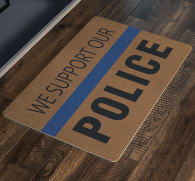 We Support Our Police Doormat